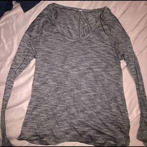 Lululemon heather gray long sleeve 12
